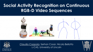 """Front of the """"Social Activity Recognition on Continuous RGB-D Sequences"""" Presentation"""